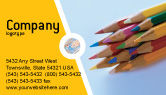 Education & Training: Pencil Business Card Template #02294