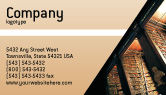 Education & Training: Book Shelf Business Card Template #02347