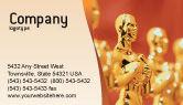 Art & Entertainment: Movie Award Business Card Template #02371