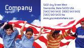 America: Templat Kartu Bisnis Anak-anak Dari Usa #02377