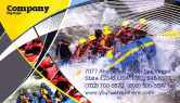 Sports: Rafting Business Card Template #02380