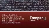 Education & Training: Templat Kartu Bisnis Rumus Aljabar #02406