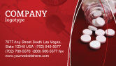 Medical: Pills From The Bottle Business Card Template #02414