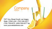 Food & Beverage: Orange Juice Business Card Template #02416