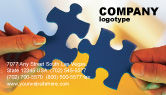 Business Concepts: Pieces of Puzzle Business Card Template #02430