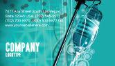 Medical: Medicine Dropper Business Card Template #02448