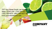Food & Beverage: Lime Business Card Template #02460
