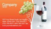 Food & Beverage: Bottle of Wine Business Card Template #02476