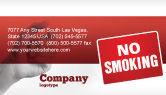 Medical: No Smoking Business Card Template #02493
