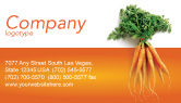 Agriculture and Animals: Carrot Business Card Template #02511