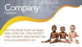 People: Nursery Business Card Template #02518