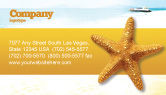 Agriculture and Animals: Star Fish Business Card Template #02556