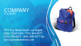 Education & Training: School Backpack Business Card Template #02577
