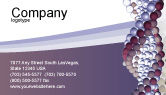 Medical: DNA On A Violet Business Card Template #02581