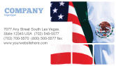 Flags/International: Mexico and USA Business Card Template #02668