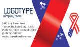 Holiday/Special Occasion: Patriot Ribbon Business Card Template #02739