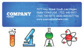 Education & Training: Natural Sciences Business Card Template #02780