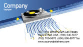 Art & Entertainment: Party DeeJay Business Card Template #02786