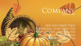 Holiday/Special Occasion: Thanksgiving Day Business Card Template #02819