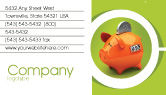 Financial/Accounting: Piggy-bank Business Card Template #02832