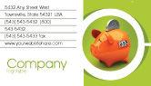 Financial/Accounting: 명함 템플릿 - 돼지 저금통 #02832