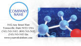 Technology, Science & Computers: Molecular Skeleton Business Card Template #02833