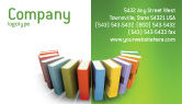Education & Training: Books Business Card Template #02844