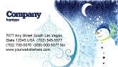 Holiday/Special Occasion: Templat Kartu Bisnis Manusia Salju #02847