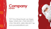 Holiday/Special Occasion: Santa Around the Corner Business Card Template #02849