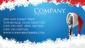 Holiday/Special Occasion: Christmas Songs Business Card Template #02853