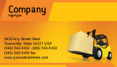 Cars/Transportation: Yellow Loader Business Card Template #02863
