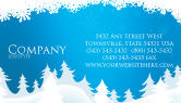 Holiday/Special Occasion: Forest Snow Business Card Template #02888