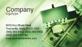 Financial/Accounting: Mortgage On The House Business Card Template #02891