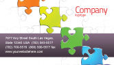 Business Concepts: Fancy Jigsaw Business Card Template #02895