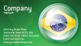 Flags/International: Brazil Sign Business Card Template #02926