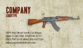 Military: Kalashnikov Business Card Template #02934