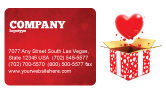 Holiday/Special Occasion: Love Present Business Card Template #02950