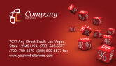 Financial/Accounting: Red Percent Cubes Business Card Template #02987