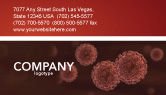 Medical: Red Corpuscles Business Card Template #03014