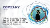 Business Concepts: Gedanken Visitenkarte Vorlage #03019