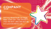 Art & Entertainment: Disco Star Business Card Template #03020