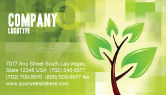 Nature & Environment: Green Health Business Card Template #03083