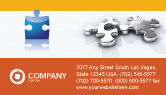 Business Concepts: Steel Puzzle Business Card Template #03097