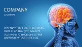 Medical: Gehirn im schädel Visitenkarte Vorlage #03110