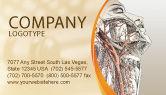 Medical: Craniofacial Anatomy Business Card Template #03127