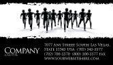 3D: Revolution Business Card Template #03136