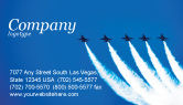 Military: Aviation Parade Business Card Template #03150