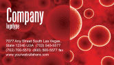 Medical: Red Spheres Business Card Template #03177