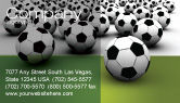 Sports: Football Championship Business Card Template #03192