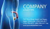 Medical: Male Reproductive Organs Business Card Template #03223